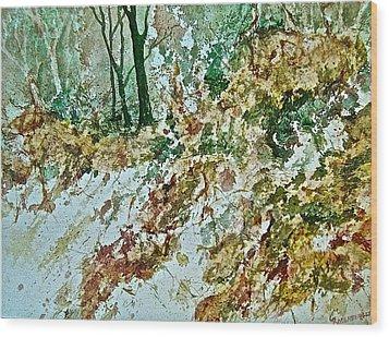 Impressions Of Spring Wood Print by Carolyn Rosenberger
