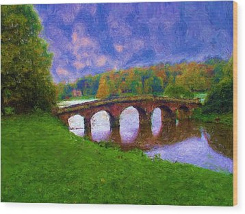 Impressions Of Stourhead Wood Print by Ron Harpham