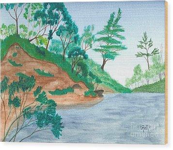 In A Mine Pit Wood Print by Robert Meszaros