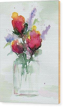 In A Vase Wood Print by Anne Duke