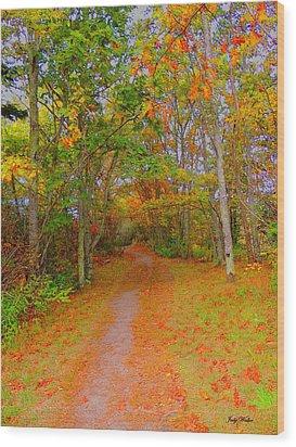 In Beauty I Walk Wood Print