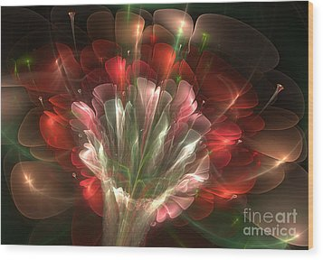 In Bloom Wood Print by Svetlana Nikolova