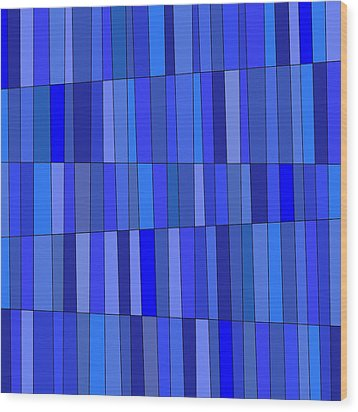 In Blue Please Wood Print