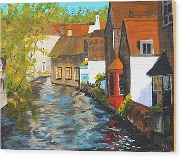 In Bruges Wood Print by Diane Arlitt