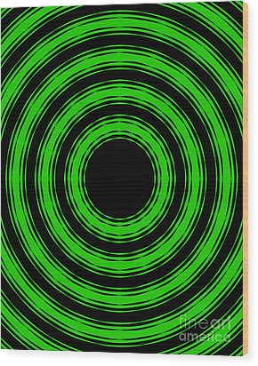 Wood Print featuring the painting In Circles-green Version by Roz Abellera Art