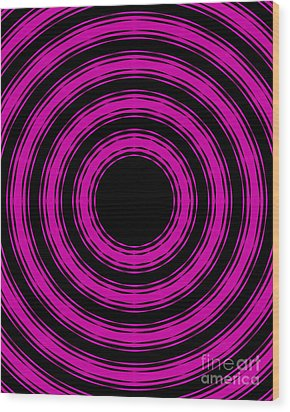 Wood Print featuring the painting In Circles-pink Version by Roz Abellera Art