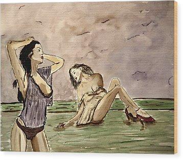 In Deep Passion Wood Print by Shlomo Zangilevitch