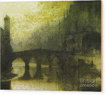 In Fair Verona Wood Print by Mo T