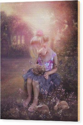 In Fairy Tales Wood Print by Cindy Grundsten