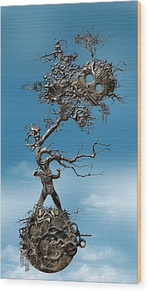 In Fato Scientia  Wood Print by Andy Walsh