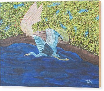 In Flight Wood Print by Cheryl Bailey