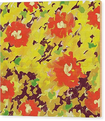 In Full Bloom Wood Print by Alec Drake