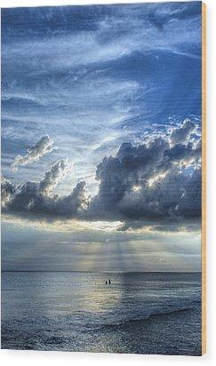In Heaven's Light - Beach Ocean Art By Sharon Cummings Wood Print by Sharon Cummings