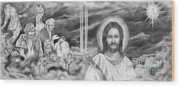 In His Kingdom Wood Print