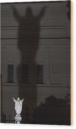 In His Shadow Wood Print