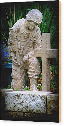 In Honor Of The Wounded Warrior Wood Print by Kay Novy
