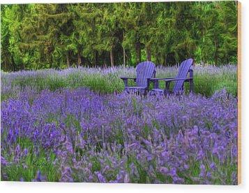 In Lavender Wood Print