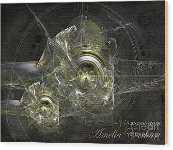 In Memoriam Amelia Earhart Wood Print by Alexa Szlavics