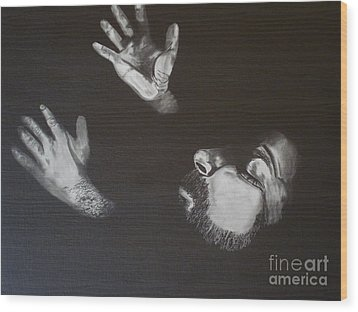 Wood Print featuring the painting In Memory Of My Father by Stuart Engel