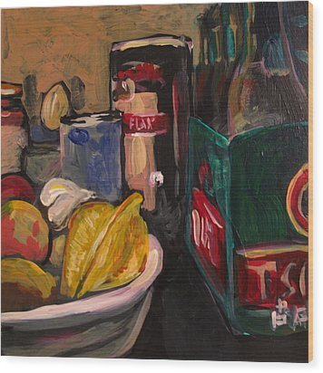 In My Fridge Wood Print by Tilly Strauss