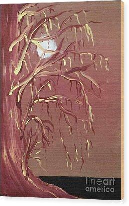 In Passing Wood Print