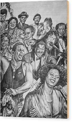 In Praise Of Jazz Wood Print by Steve Harrington