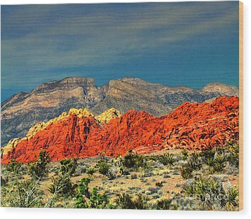 In Red Mountain 1 Wood Print
