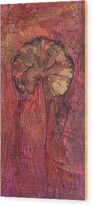 In Remembrance Of The Bloom Wood Print by Sandra Gail Teichmann-Hillesheim