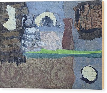 Wood Print featuring the mixed media In Ruins by Catherine Redmayne