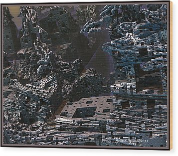 Wood Print featuring the digital art In Ruins by Melissa Messick