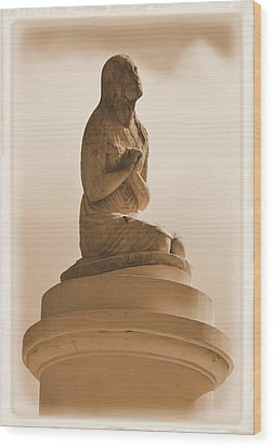 Wood Print featuring the photograph In Supplication by Nadalyn Larsen