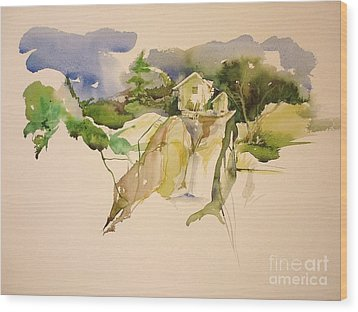 In The Alps Wood Print by Donna Acheson-Juillet