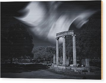 Wood Print featuring the photograph In The Altis Of Olympia by Micah Goff