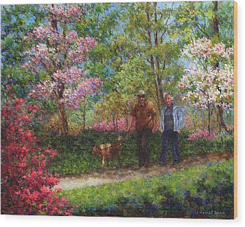 In The Azalea Garden Wood Print by Susan Savad
