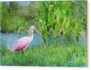 Wood Print featuring the photograph In The Bayou #1 by Betty LaRue