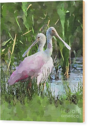 Wood Print featuring the photograph In The Bayou #2 by Betty LaRue