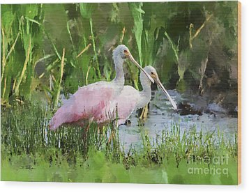 Wood Print featuring the photograph In The Bayou #3 by Betty LaRue