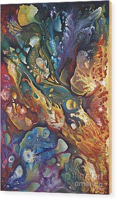 In The Beginning Wood Print by Ricardo Chavez-Mendez
