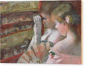 In The Box Wood Print by Mary Stevenson Cassatt