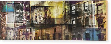 In The City Wood Print by Jeff Klingler