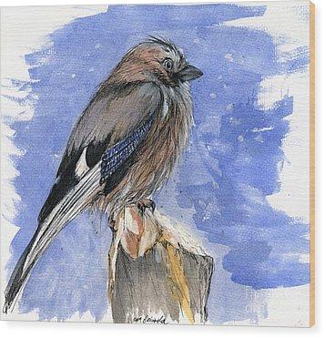 In The Cold Winter Night Wood Print by Angel  Tarantella