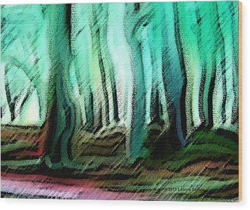 In The Country Wood Print by Lenore Senior
