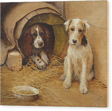 In The Dog House Wood Print by Samuel Fulton
