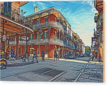 In The French Quarter Painted Wood Print by Steve Harrington