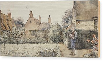 In The Garden Wood Print by Childe Hassam