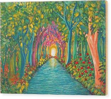 In The Garden Wood Print by Deyanira Harris