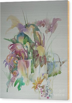 In The Garden Wood Print by Donna Acheson-Juillet