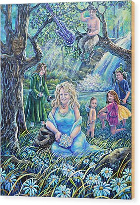 In The Garden Of The Goddess Wood Print
