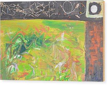 In The Garden Wood Print by Robert Daniels