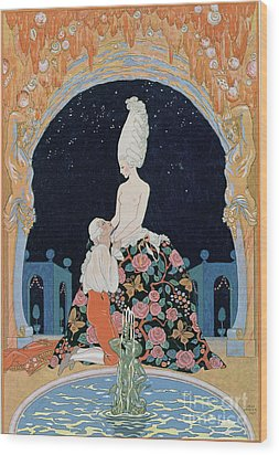 In The Grotto Wood Print by Georges Barbier